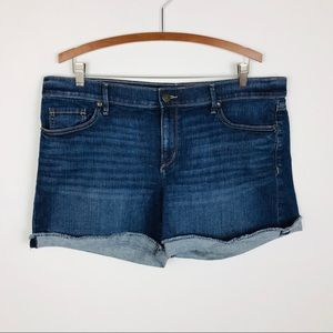 Loft denim roll shorts 12